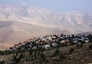 Houses can be seen at the Jewish West Bank settlement of Maale Efrayim in the Jordan Valley. (photo credit:REUTERS)