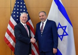 Defense Minister Avigdor Lieberman with his American counterpart Gen.James Mattis.. (photo credit:DEFENSE MINISTRY)